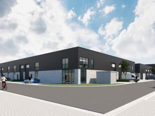 Nieuwbouw KMO-unit met een oppervlakte van 144 m² te koop nabij de R4 te Zelzate. De energiezuinige loods die toegankelijk is via een automatisch