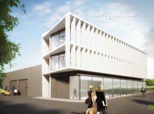 Nieuwbouw polyvalente ruimte van 80 m² te koop vlak bij de op- en afrit Beersel van de Ring rond Brussel (2 km). De ruimte kan dienst doen als ka