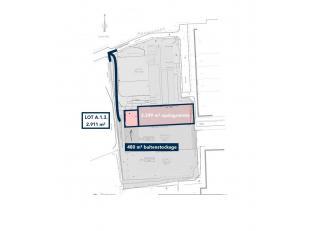 Entrepôt de 2.249 m² avec un grand aire de stockage extérieur (privatif) de 480 m² un site de 2.911 m² à vendre &ag