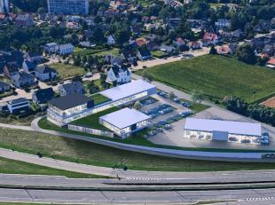 Nouveau showroom de 800 m² à une location phénoménal à vendre le long le N9 (Gand-Bruxelles) à Zellik. Le show