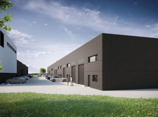 Nieuwbouw opslagruimte van 161 m² te koop met visibiliteit vanaf de E40.Het magazijn is opgebouwd uit geïsoleerde silex betonpanelen met bet