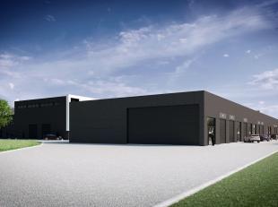 Nieuwbouw opslagruimte van 241 m² te koop met visibiliteit vanaf de E40.Het magazijn is opgebouwd uit geïsoleerde silex betonpanelen met bet