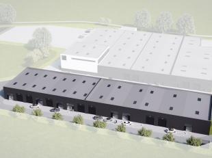 Nieuwbouw opslagruimte van 339 m² te koop met visibiliteit vanaf de E40.Het magazijn is opgebouwd uit geïsoleerde silex betonpanelen met bet