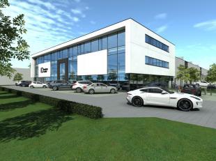 Nieuwbouw kantoor/showroom van 293 m² met 343 m² opslag te koop langs de commerciële Brusselbaan te Hekelgem (Affligem). De ruimte kan