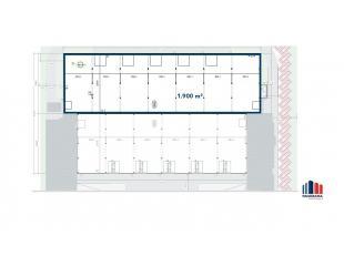 Nieuwbouw bedrijfsgebouw van 1.900 m² te koop. Centraal gelegen in bedrijvenzone Pathoekeweg. De nieuw te bouwen casco ruimte is toegankelijk via