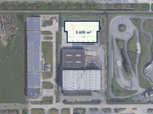 Nieuwbouw magazijnruimte van 3.600 m² te koop. De nieuw te bouwen casco magazijnruimte is toegankelijk via verschillende sectionale poorten, uitg