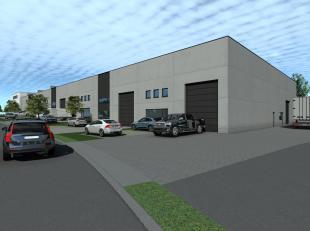 Nieuwbouw opslagruimte van 230 m² te koop langs de commerciële Brusselbaan te Hekelgem (Affligem). De loods is voorzien van een ruime sectio