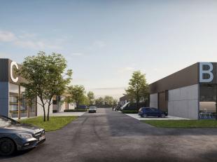 Nieuwbouw KMO-unit van 292² te koop, fantastisch gelegen nabij het centrum van Kortrijk (3 km naar de Grote Markt) en de R8 (3 min. rijafstand).