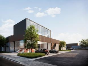 Nieuwbouw KMO-unit van 486m² te koop, fantastisch gelegen nabij het centrum van Kortrijk (3 km naar de Grote Markt) en de R8 (3 min. rijafstand).