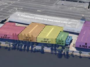 Magazijnruimtes vanaf 2.500 m² tot 10.000 m² (en meer), al dan niet in combinatie met (nieuwbouw) kantoren te koop. Gelegen langs het Kanaal