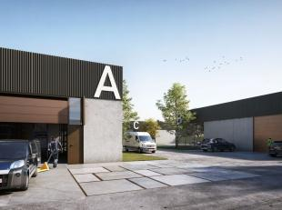 Nieuwbouw KMO-unit van 224 m² te koop, fantastisch gelegen nabij het centrum van Kortrijk (3 km naar de Grote Markt) en de R8 (3 min. rijafstand)