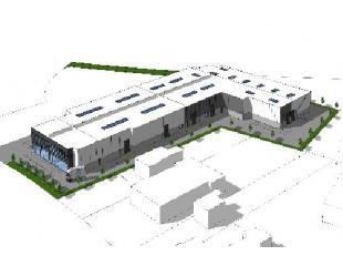 Nieuwbouw opslagruimte met showroom en alle met de nodige faciliteiten zoals laadkades, sectionale poorten, 8m vrije hoogte. De ligging langs de N13 b