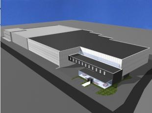 Nieuwbouw logistieke hal of productieruimte met kantoren op maat. Het project is gelegen in een industriezone die toelaat om een gebouw uit te rusten