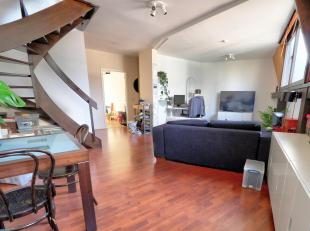 Charmant appartement duplex de 90m² composé de :<br /> -1 chambre en parquet<br /> - 1 salle de bains avec toilette<br /> - 1 toilet