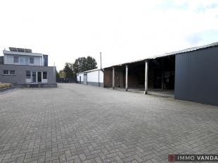 Woning met magazijn, werkhuis en bureau vlakbij het centrum van Balen op 1700m².<br /> Via de zij-inkom betreedt met de leefruimte die uitkijkt o