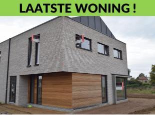 Diest, Schaffen - Kerkstraat. Nieuwe Bijna-Energie-Neutrale (BEN) woning in half open bebouwing.<br />  Indeling:gelijkvloers<br /> : inkomhal met afz