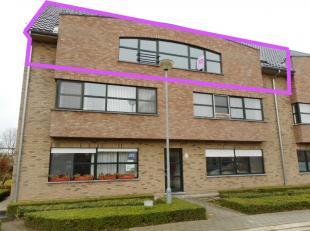 Ruim bemeten dak/duplexappartement op het tweede verdiep (geen lift) in kleine residentie nabij centrum Geel, en ondergrondse autostaanplaats, bestaan