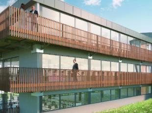 Moderne bedrijfsunits (vanaf 380m²), dewelke worden opgetrokken met duurzame en ecologische materialen, voorzien van eigen parking en terrassen,