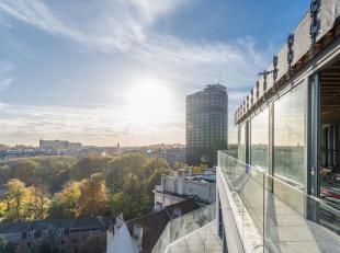 Dichtbij Terkammerenbos en de Terkamerendalsquare, penthouse van ± 384 m² in een uitvoeringsvorm getekend door de architect Marc Corbiau.<