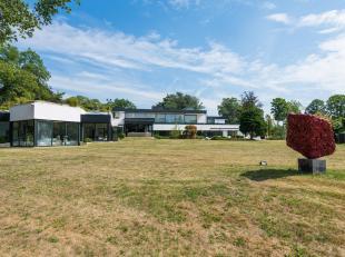 Schitterende moderne villa dichtbij een golfclub in een rustige en groene omgeving en op slechts 30 minuten van Brussel op een prachtig domein van 2 h