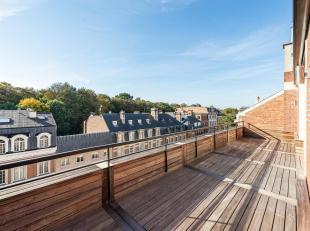 Duplex penthouse met zijn terras op het zuiden gelegen in de private, veilige en rustige van het plein du Bois. Een locatie die zowel prestigieus als