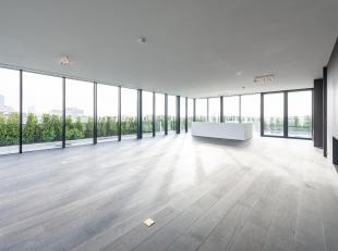 Op een met boom omzoomde laan in het hart van Brussel, duplex penthouse, volledig gerenoveerd met hoogwaardige materialen met een oppervlakte van &plu