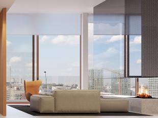 Het prestigieuze Aequor concept, een uniek wooncomplex van ongeëvenaarde standing op het Antwerpse Eilandje, telt twee penthouses die er op alle