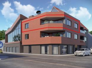 """Ruim 2-slaapkamerappartement (110 m²) op de tweede verdieping van nieuwbouwresidentie """"Le Vieux Charles"""". <br /> Het aangename leefterras (16 m&s"""