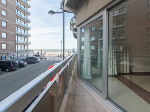 Appartement met 1-slaapkamer en zijdelings zeezicht gelegen op de eerste verdieping van de residentie Melrose, Jean van Hinsberghstraat 16B te Middelk