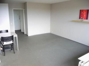 Gemeubelde studio met lift. Hal, living, ingerichte keuken, terras, badkamer.Provisie: euro 99/ maand (all-in uitgezon. eigen elektriciteit). EPC: 237