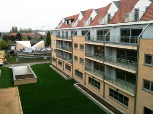 op de 4de verdieping recent residentieel dakappartement, 1 ruime slaapkamer. Living met terras, zicht op tuin. Ingerichte open keuken. Luxe badkamer m