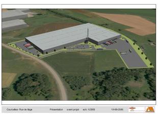 Nieuwbouwproject <br />  <br /> - kades voorzien 1/1000 m² <br /> - 10,50 m vrije hoogte <br /> - verwarming tot 8 °C <br /> - verlichti