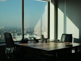 Spectaculaire uitzichten vanaf een prominent gebouw in een dynamisch zakendistrict met Europese en wereldwijde importantie behoren tot de aantrekkelij