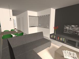 Nieuwbouwappartement te huur in de nieuwe residentie De Lombarden te Lombardsijde.  Dit appartement is gelegen op de tweede verdieping en omvat een in