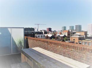 """Dit verzorgde dakappartement met uniek verzicht over de stad, haven en schelde, is zeer centraal gelegen op het bruisende """"Eilandje"""".  Het appartement"""