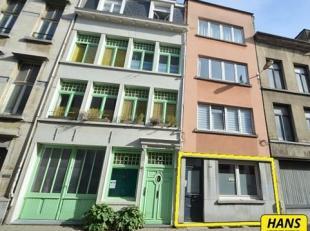 Gelijkvloers appartement van ca. 55m² met 1 slaapkamer en leuke stadstuin in het centrum van Antwerpen. Indeling: Leefruimte van 13m² op lam