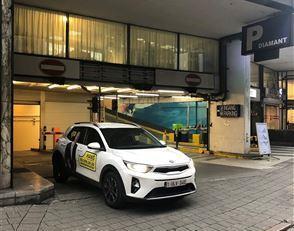 Ondergrondse autostaanplaats gelegen in het Antwerpse diamantkwartier bij het Empire Center. De locatie is ideaal voor wie werkt in het centrum van An