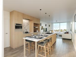 Appartement 4.1 in ons project Roosens is gelegen op de 4de verdieping (dakverdieping) en bestaat uit: leefruimte met open keuken + aanpalend terras,