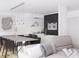 App 0.1 in ons project Vlerke is gelegen op de gelijkvloersverdieping en bestaat uit: hal, leefruimte, keuken, berging, apart toilet, badkamer, 2 slaa