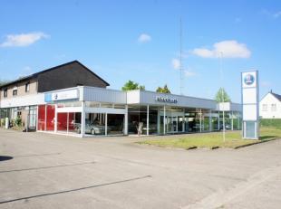 An de Steenweg 195 te Diepenbeek bevindt zich dit bedrijfspand met woonst.<br /> <br /> Het gaat hierbij om de voormalige concessie Saab en Mazda van