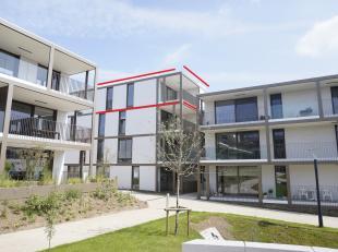Penthouse centrum Lummen ( Lumase ) 98 m² met zuid gericht terras van 15 m².<br /> Nieuwbouw met 2 slaapkamers.  <br /> 3de verdieping. Priv