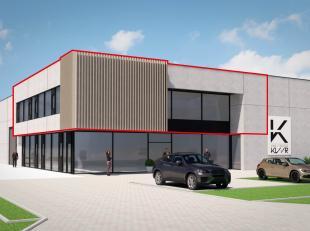 Deze kantoor- of handelsruimte van meer dan 281 m² situeert zich op de eerste verdieping van een op te bouwen pand in het bedrijventerrein van As