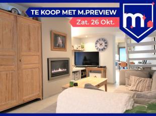 **** Deze woningt wordt verkocht met het M PREVIEW concept, waar u op zaterdag 26/10 een bezoek kan brengen aan de woning. Voor meer info betreffende