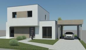 Nieuw te bouwen energiezuinige en vooruitstrevende villa gelegen te Moere, Gistel. Oppervlakte terrein 990 m², straatbreedte van 18m. Residenti&e