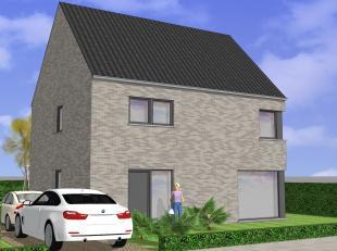 Nieuw te bouwen villa in een doodlopende straat met groenzone. Mooie rustige ligging in een straat met veel jonge koppels vlakbij een groot natuurdome