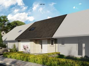 Nieuw te bouwen lage energie woning gelegen op een rustige verkaveling. De landelijke omgeving is ideaal voor wie geniet van in de natuur te wandelen,