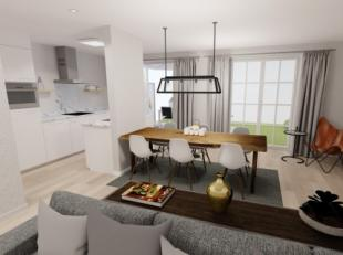 Appartement 0.1 Een 3 slaapkamer appartement van 130m² op het gelijkvloers met zonnig terras. Dit prachtig appartement is ingedeeld met een apart