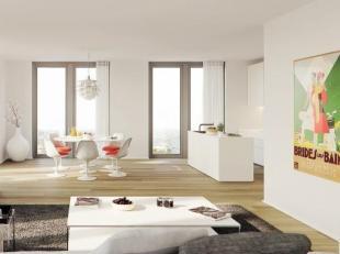 Appartement 2.3 Een 2 slaapkamer appartement van 110m² op de tweede verdieping met terras. Dit prachtig appartement is ingedeeld met een aparte i
