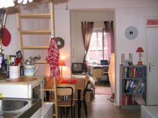 Aangename, onbemeubelde s(tudenten)studio met leefruimte, aparte slaaphoek, keukenblok en badkamer (douche, wc, lavabo). Betreft hele etage van woonhu