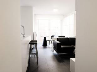 Modern gemeubeld 1-slaapkamerappartement met terras in nieuwbouwresidentie op Sint-Pietersvliet. Het appartement is gelegen op niveau + 1,5. U komt he